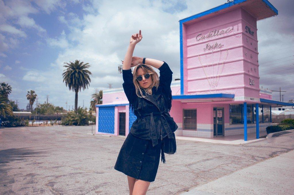 suede fringe jacket fashion blogger