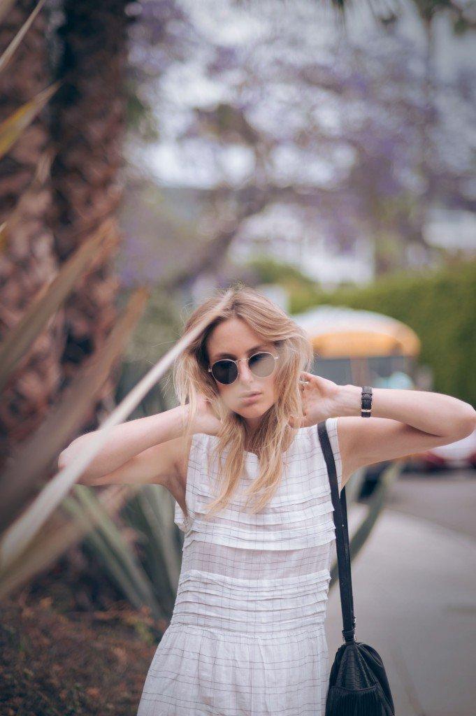 white maxi dress fashion blogger
