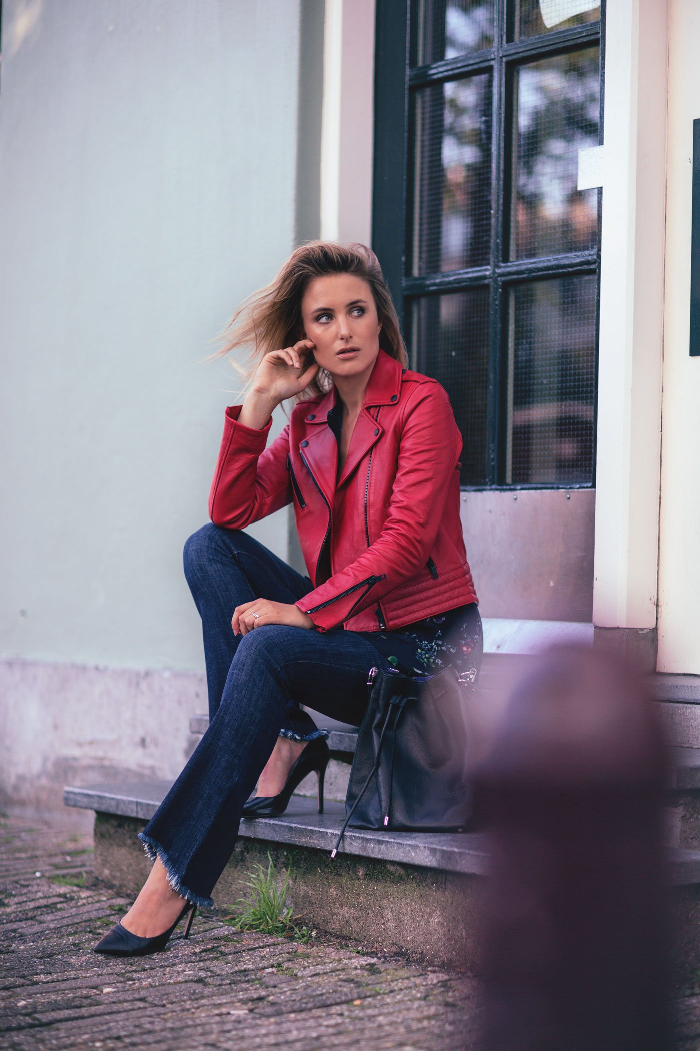 rebecca-laurey-red-leather-jacket