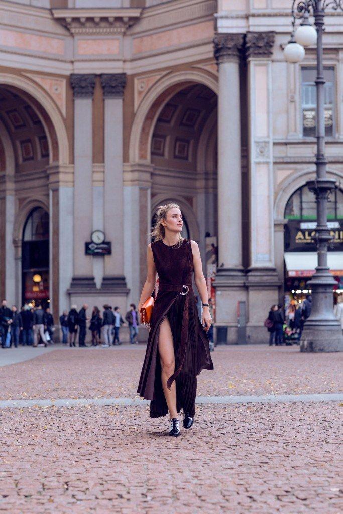 rebecca laurey suede dress