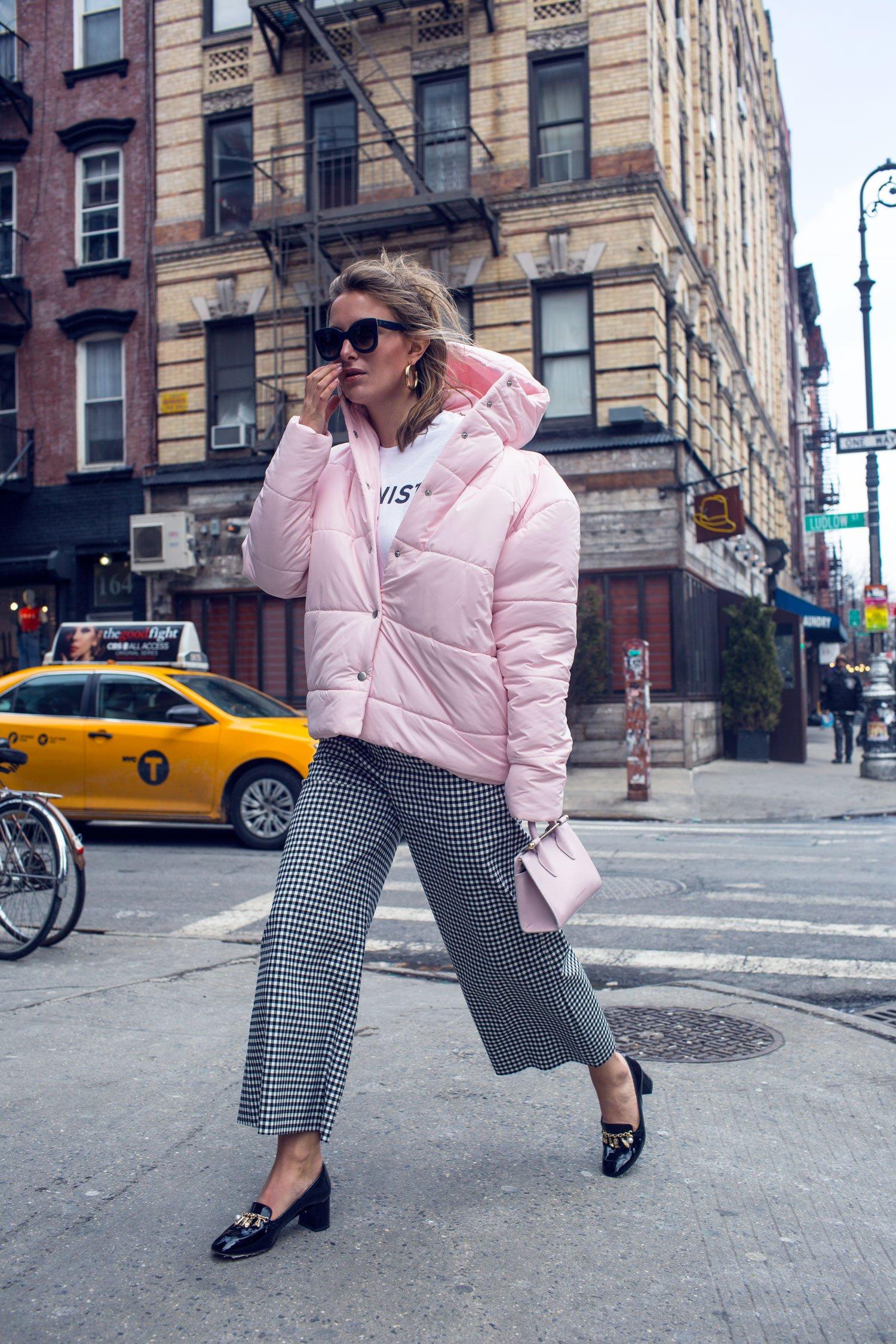 rebecca laurey pink coat nyfw