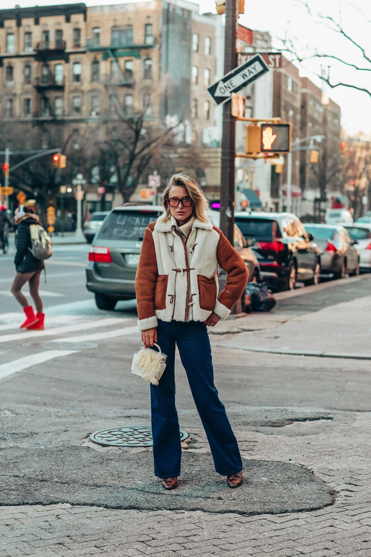 Shearling street style new york