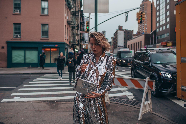 GLITTER DRESS NY