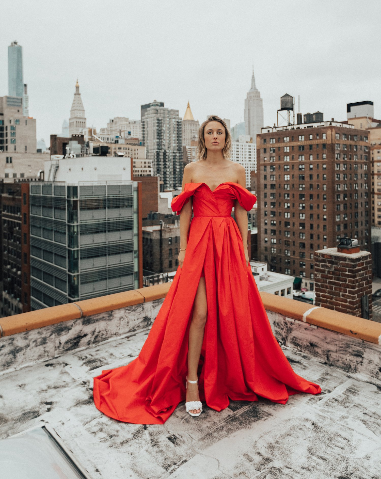CAROLINE HERRERA RED DRESS NY