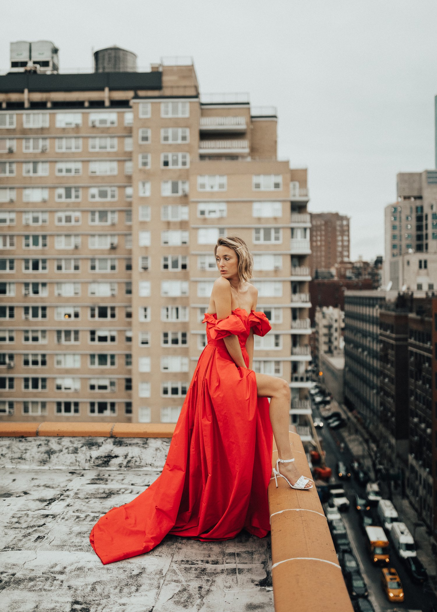 CAROLINA HERRERA RED DRESS NEW YORK