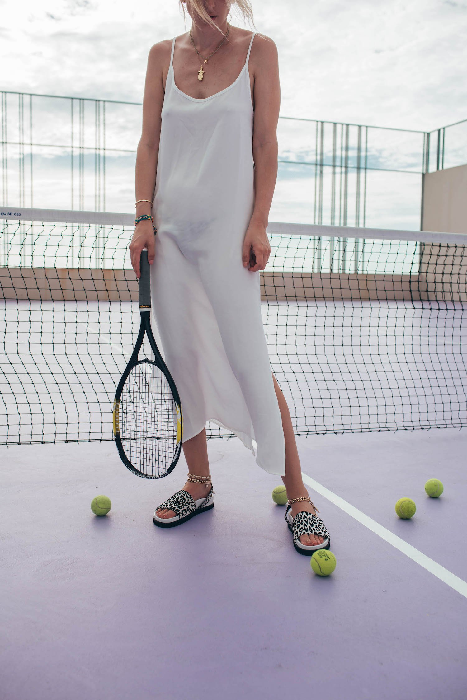 TENNIS COURT SLIP DRESS