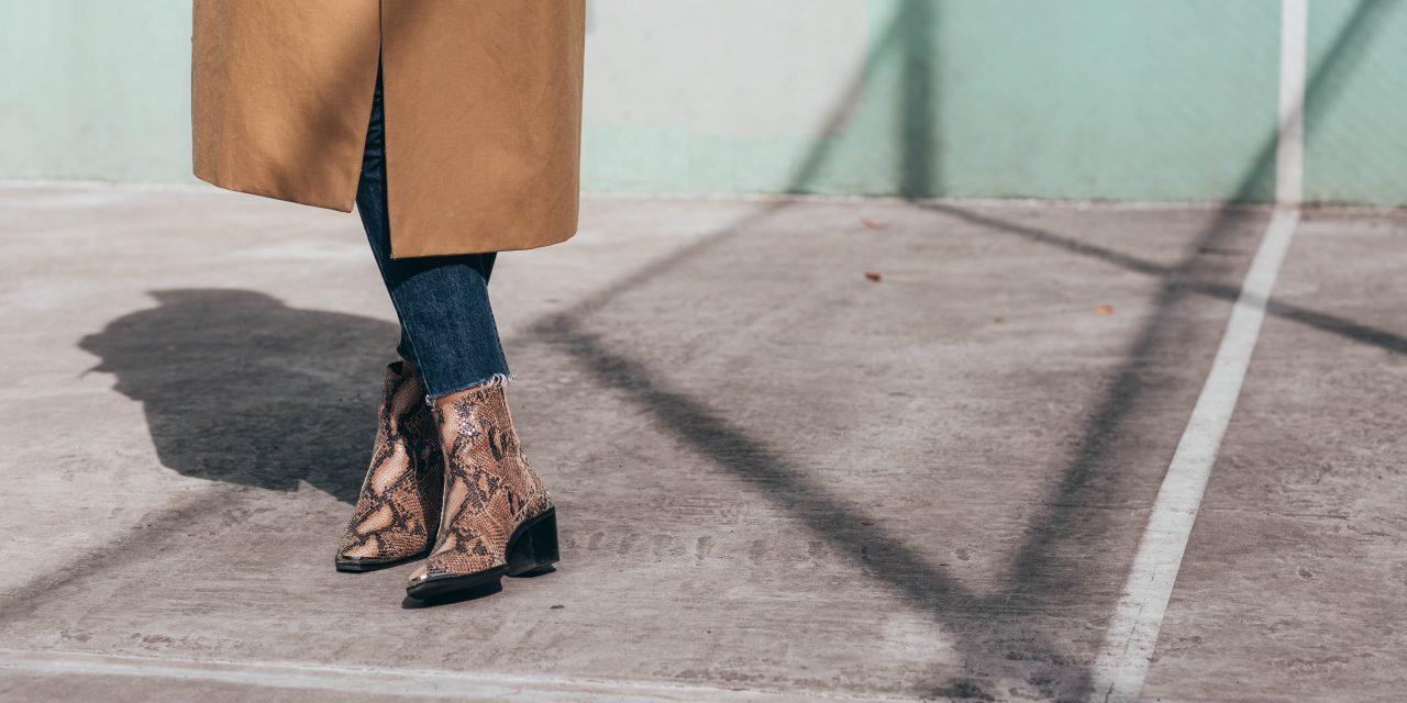 snake print cowboy boots